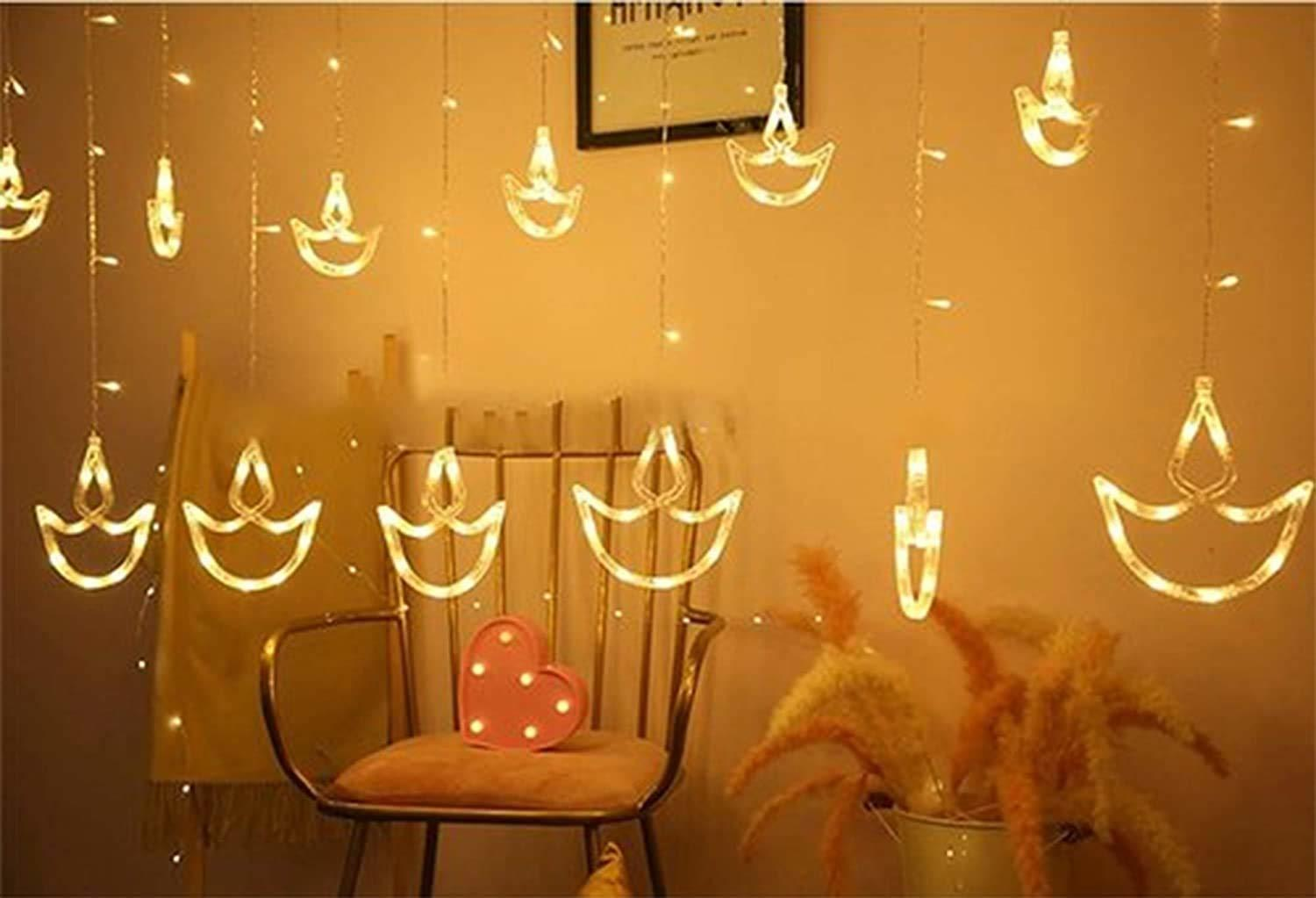 Diya Curtain Lights
