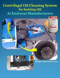 Oil Cleaning System For Knitting Oil