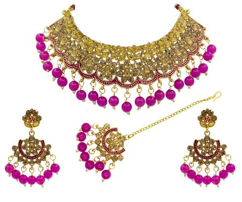 Attractive New Design Meenakari Choker Necklace Set