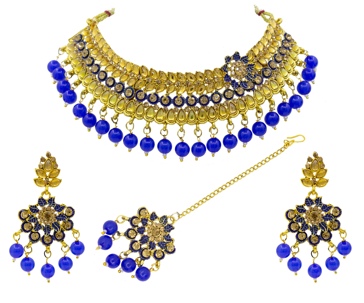 New Design Meenakari Choker Necklace Set