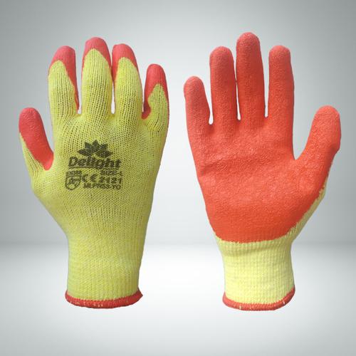 Orange Latex Coated Gloves