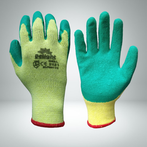 Green Latex Palm Coated Gloves