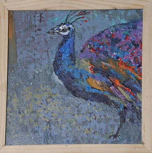 Blue Peacock Original Art