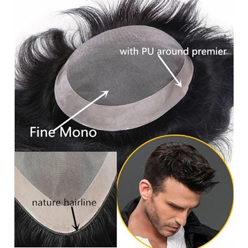 Monofilament Mens Hair Patch
