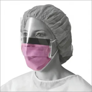 Medline Fluid Resistant Surgical Face Mask With Eyeshield