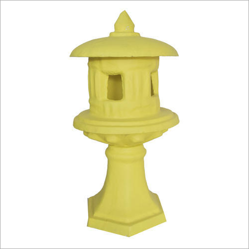 Concrete Yellow Carved Lamp