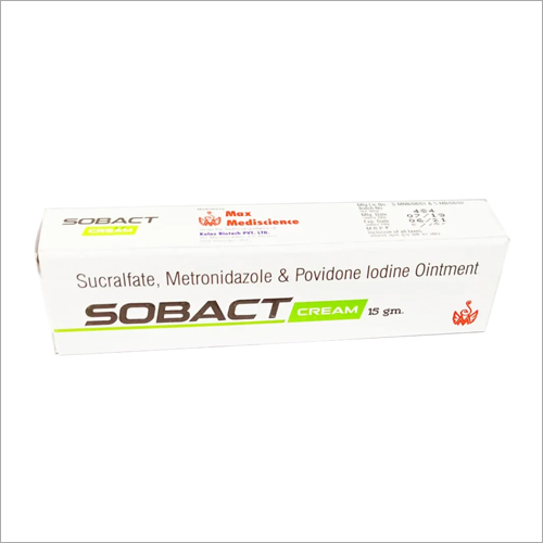 SOBACT OINT 15gm Sucralfate Metronidazole and Povidone Lodine Cream