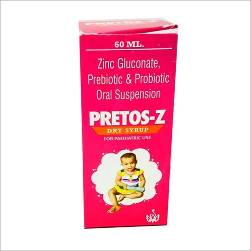 PRETOS Z 60 ml  SYRUP Zinc Gluconate Prebiotic and Probiotic Oral Syrup