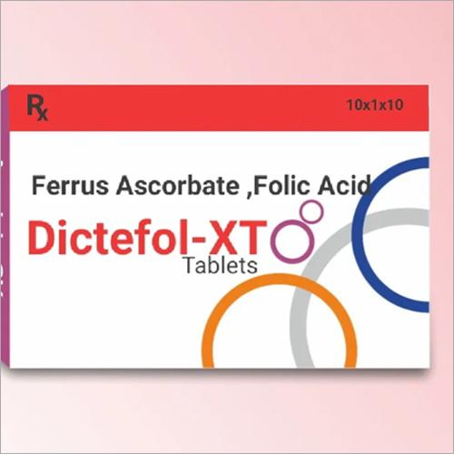 DICTEFOL XT TAB Ferrus Ascorbate Folic Acid Tablets