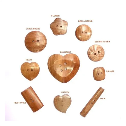 Wooden Large Buttons