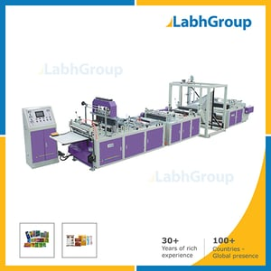 High Speed Servo Center And Side Seal Pouch Making Machine