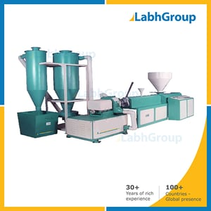 Recycle Plastic Air Cooled Extruder Machine With Die Face Cutter