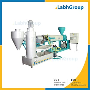 Recycle Plastic Water Cooled Extruder Machine With Die Face Cutter
