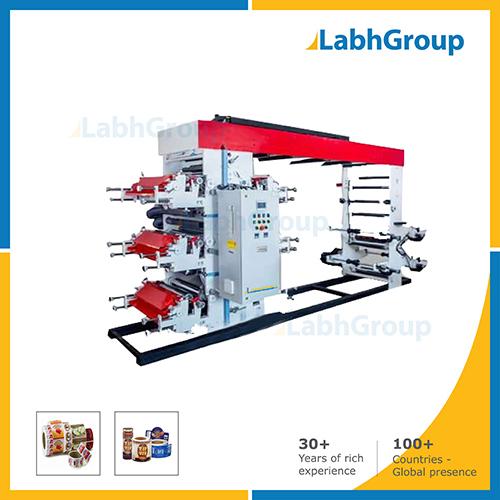 Six Colour High Speed Flexographic Printing Machine