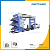 Six Colour Woven Sack Flexographic Printing Machine