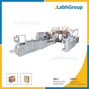 Automatic Roll Feed Shopping Paper Carry Bag Making Machine