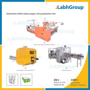 Toilet Tissue Paper Roll Making Machine - Production Plant