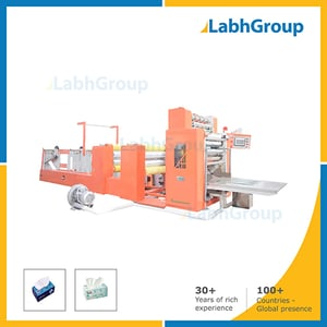 Facial Tissue Paper Embossing, Folding & Line Cutting Machine