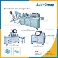 Semi-automatic Flat 3-layer Face Mask Production Line