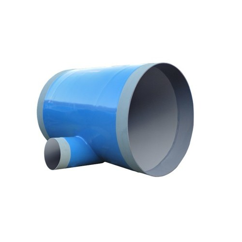 Polyethylene 3layer Coated steel fittings - Mitered Tee drain pipe
