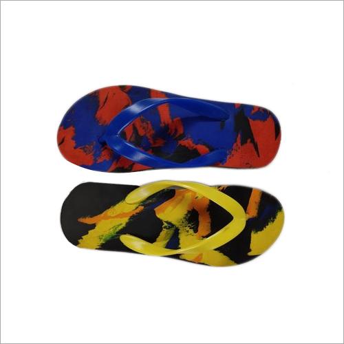 Mens Multi Color Rubber Hawai Slipper