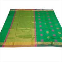 Green Chanderi Cotton Saree