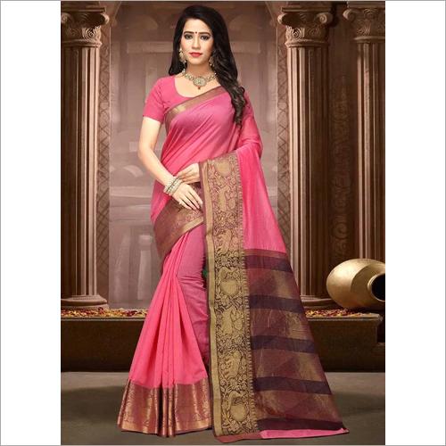 Ladies Modern Cotton Silk Saree