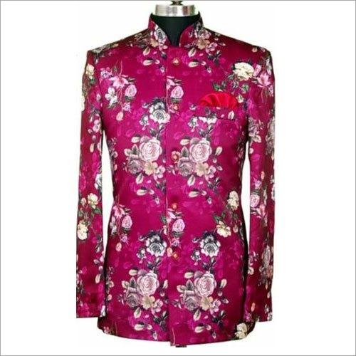 Floral Printed Cotton Hotel Uniform Coat