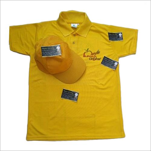 Company Logo Printed Collar T-Shirts