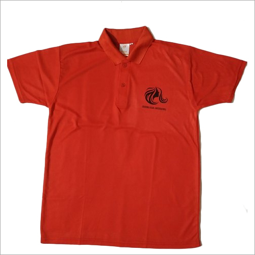 Polyester White Round Neck T Shirt