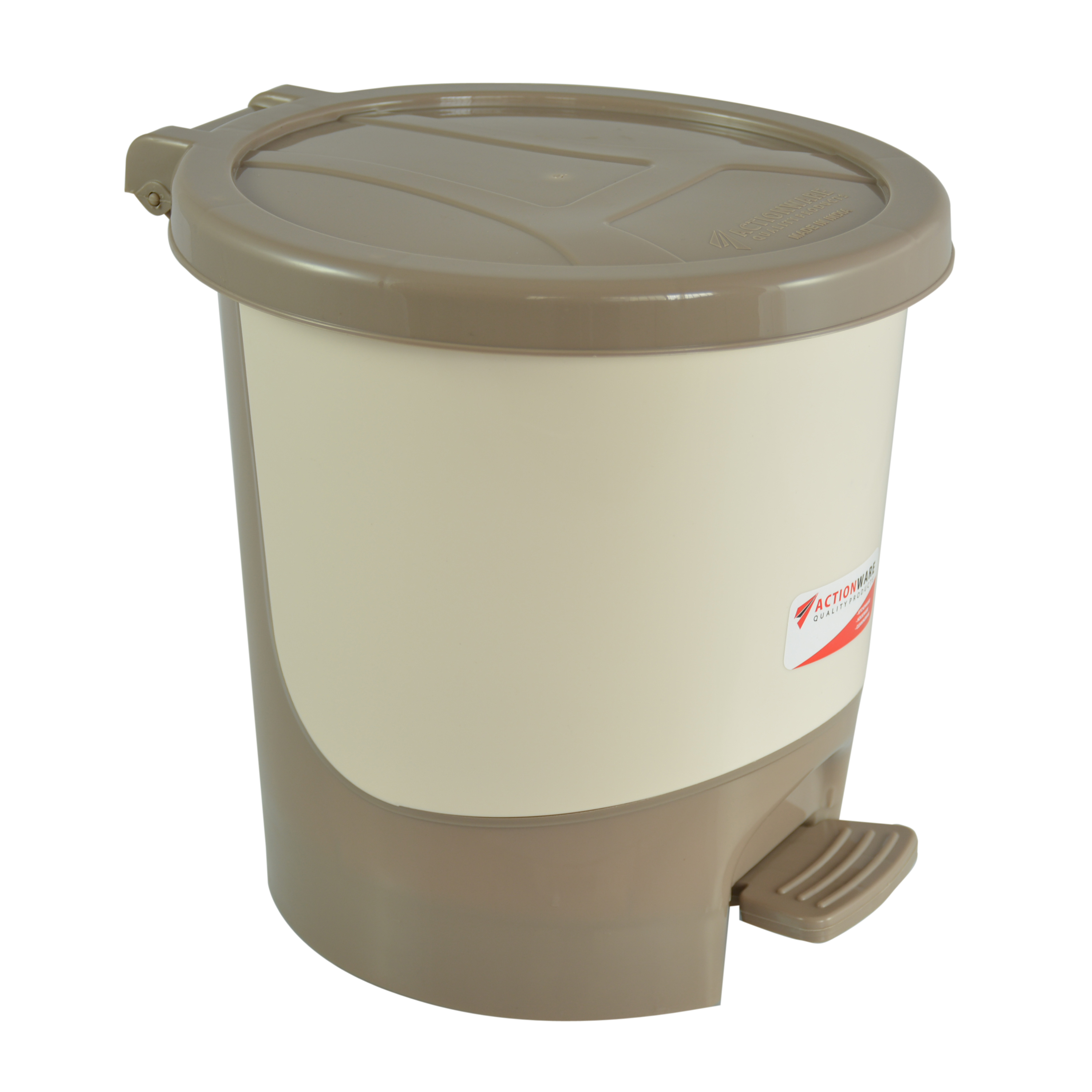 5Ltr Silver Paddle Dustbin