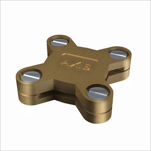 Gunmetal Square Tape Clamp for with Copper Screws (Star Design)