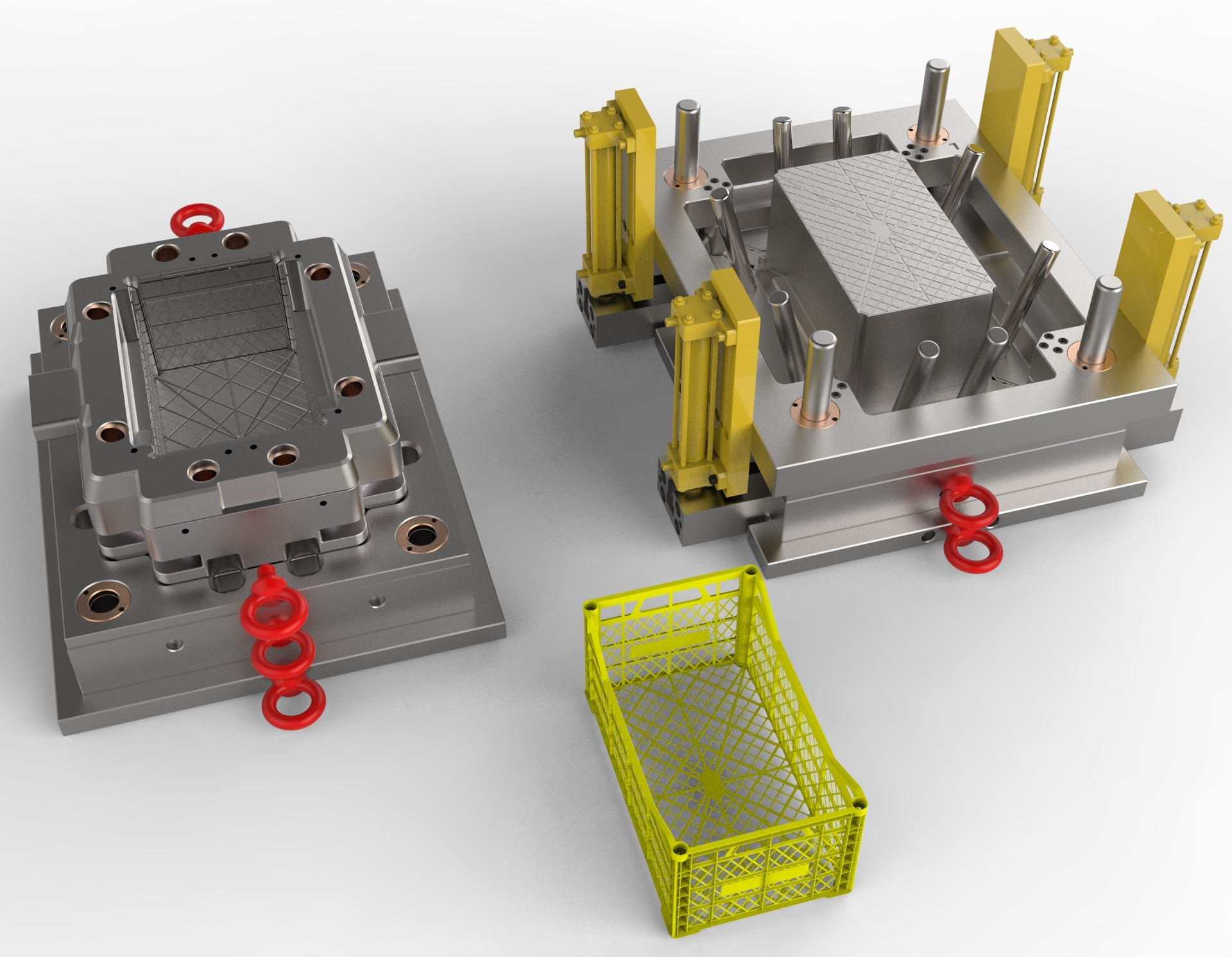 Injection Vegetable Crate Mold