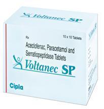 Aceclofenac, Serratiopeptidase and Paracetamol Tablets