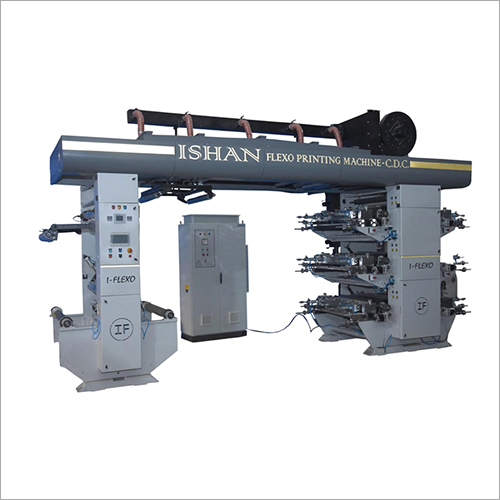 CDC Type Flexo Printing Machine With Ceramic Roller And Doctor Blade Chamber System
