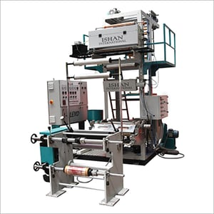 Monolayer Blown Film Extrusion Machine With OLP System