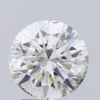Round Brilliant Cut Lab Grown 2.5ct H SI2 IGI Certified Diamond 425072713