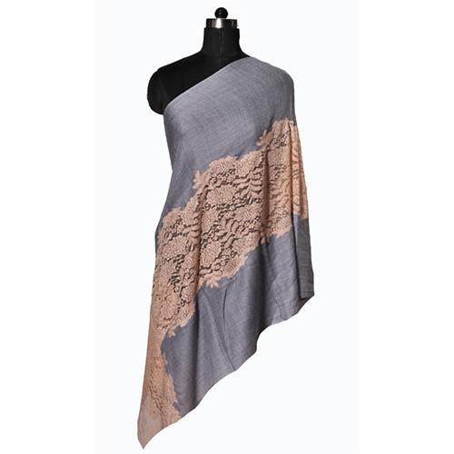 Fine Wool Eye Design Lace Stole