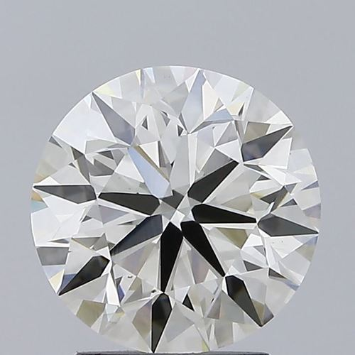 Round Brilliant Cut Lab Grown 2.29ct J VVS2 IGI Certified Diamond 407914749