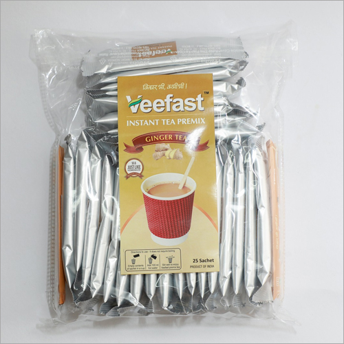 Ginger Tea Packed in BOPP Bag with 25 sachets of tea premix and 26 stirrers to mix