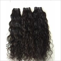 Temple Curly Natural Black Color Hair