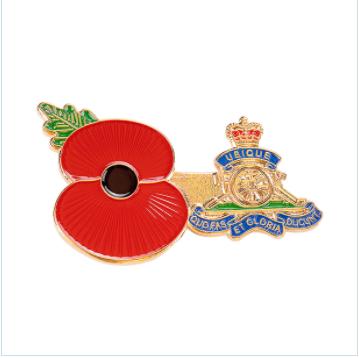 Custom made poppy badge