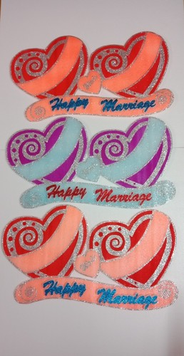 Thermocol Happy Marriage Heart Board