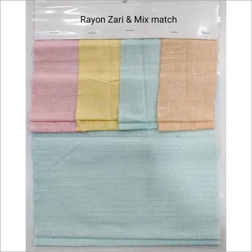 Rayon Zari Fabric Length: As Per Requirement  Meter (M)