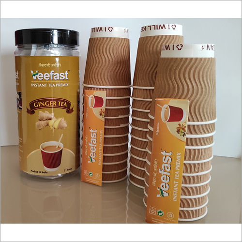 Ginger Tea with  31 serves, 32 Insulated Cups and 32 stirrers to mix