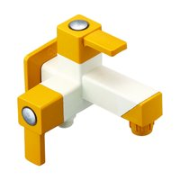 2-in-1 Angle Cock Ptmt Square