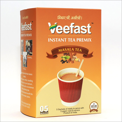 Masala Tea with 5 sachets of tea premix, 5 insulated cups to serve and 5 stirrers to mix