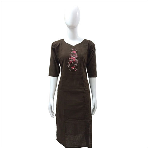 Ladies Embroidery Cotton Kurtis