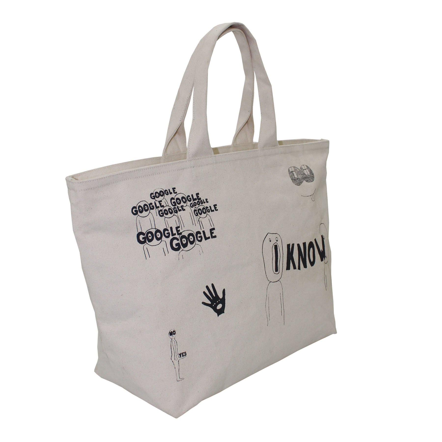 20 Oz Natural Canvas Shopping Bag With Zip Closure