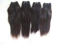 Black Steam Straight Human Temple Hair
